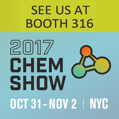 See us at Booth 316 at the 2017 CHEMSHOW